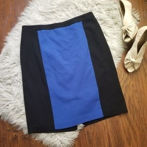 Dresses & Skirts - Color Block Black and Blue Pencil Skirt Business